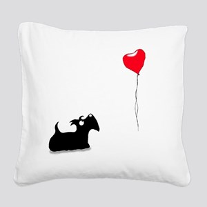 Scottie Dog Square Canvas Pillow