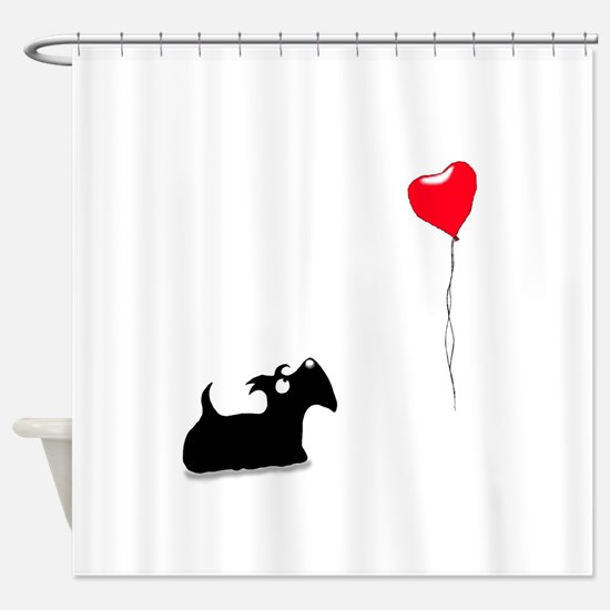 Scottie Dog Shower Curtain
