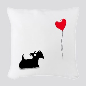 Scottie Dog Woven Throw Pillow