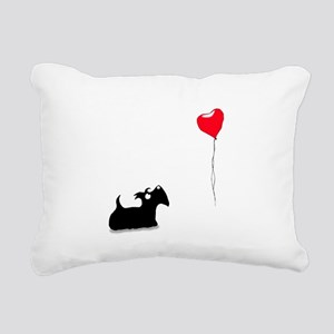 Scottie Dog Rectangular Canvas Pillow
