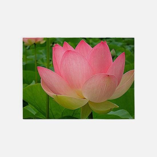 Sacred Lotus Flower 5'x7'Area Rug
