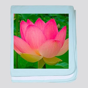 Sacred Lotus Flower baby blanket