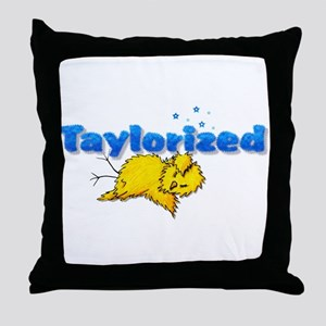 Taylorized Chick Thud Throw Pillow