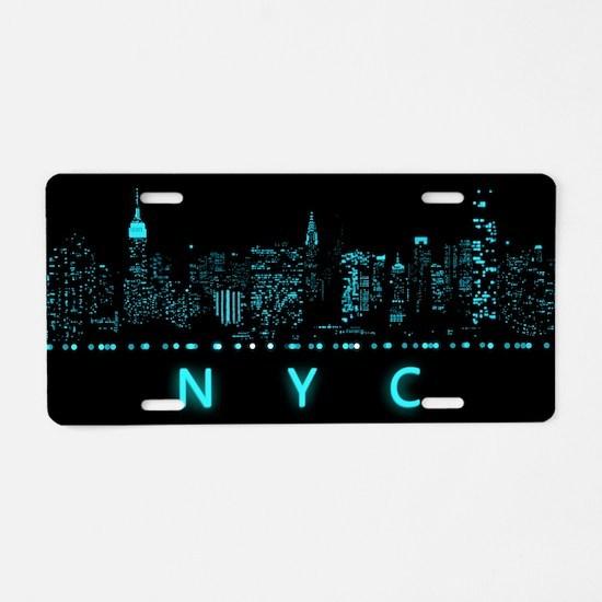 Digital Cityscape: New York Aluminum License Plate