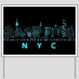Digital Cityscape: New York City, New Yo Yard Sign