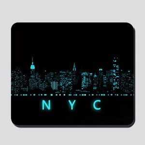 Digital Cityscape: New York City, New Yo Mousepad