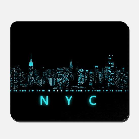 Digital Cityscape: New York City, New Yo Mousepad