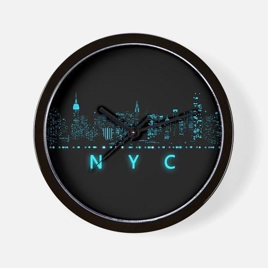 Digital Cityscape: New York City, New Y Wall Clock