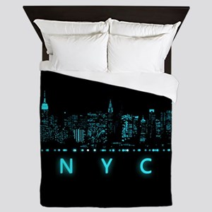 Digital Cityscape: New York City, New Queen Duvet
