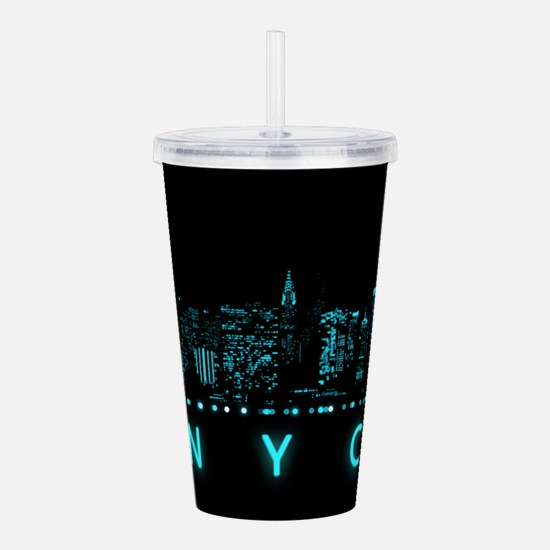 Digital Cityscape: New Acrylic Double-wall Tumbler