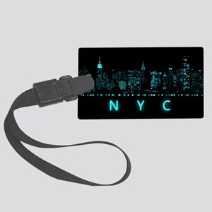 Digital Cityscape: New York City Large Luggage Tag