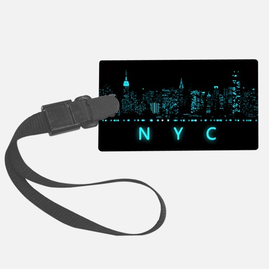Digital Cityscape: New York City Luggage Tag