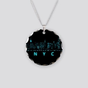 Digital Cityscape: New York Necklace Circle Charm