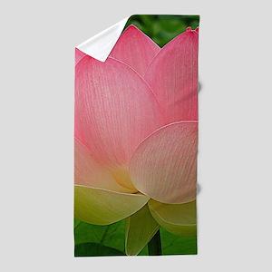 Sacred Lotus Flower Beach Towel