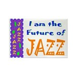 Future of Jazz Light Rectangle Magnet