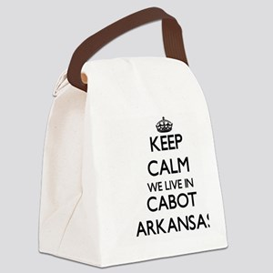 Keep calm we live in Cabot Arkans Canvas Lunch Bag