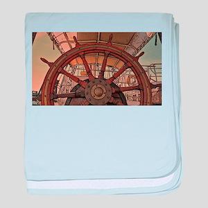 The Ships Wheel baby blanket