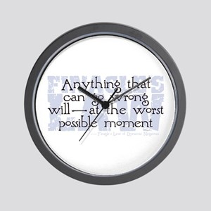 Finagle's Law Wall Clock