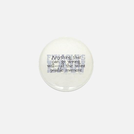 Finagle's Law Mini Button