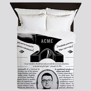 Acme Pike Ad B&w Queen Duvet