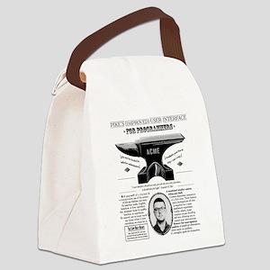 Acme Pike Ad B&w Canvas Lunch Bag