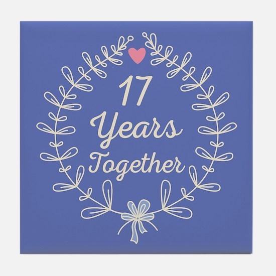 17th Wedding Anniversary Tile Coaster