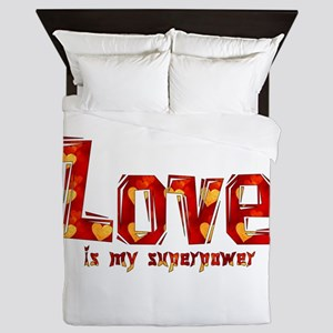 Love Is My Superpower Queen Duvet