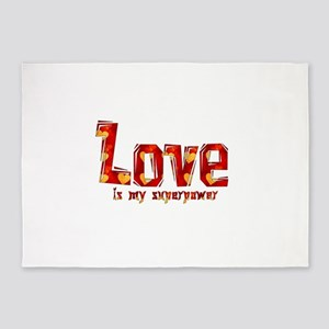 Love Is My Superpower 5'x7'Area Rug
