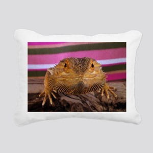 bearded dragon Rectangular Canvas Pillow