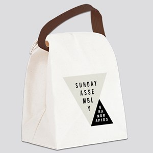 SAGR Gray and Black 01 Canvas Lunch Bag