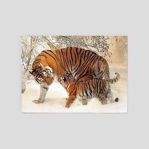 Tiger_2015_0126 5'x7'Area Rug