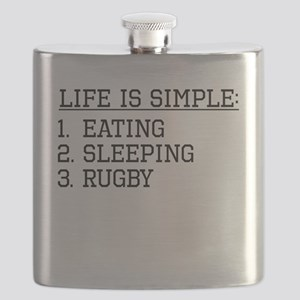 Life Is Simple: Rugby Flask