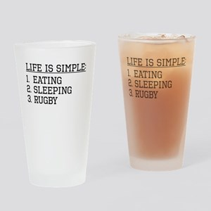 Life Is Simple: Rugby Drinking Glass