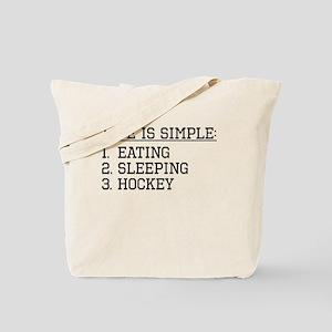 Life Is Simple: Hockey Tote Bag