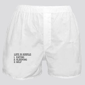 Life Is Simple: Golf Boxer Shorts