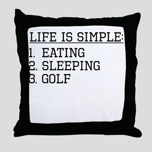 Life Is Simple: Golf Throw Pillow