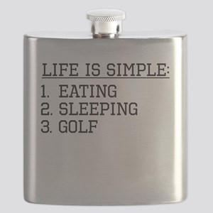 Life Is Simple: Golf Flask