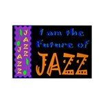 Future of Jazz Dark Rectangle Magnet (100 pack)
