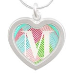 Personalizable Monogram Teal Pink Necklaces