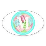 Personalizable Monogram Teal Pink Sticker