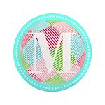 Personalizable Monogram Teal Pink 3.5