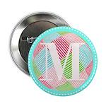 Personalizable Monogram Teal Pink 2.25
