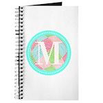 Personalizable Monogram Teal Pink Journal
