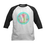 Personalizable Monogram Teal Pink Baseball Jersey