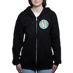Personalizable Monogram Teal Pink Women's Zip Hood