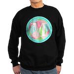 Personalizable Monogram Teal Pink Sweatshirt