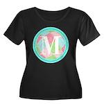 Personalizable Monogram Teal Pink Plus Size T-Shir
