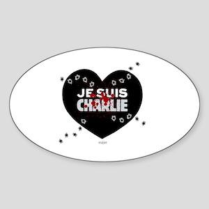Je suis Charlie by Bluesax Sticker (Oval)
