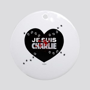 Je suis Charlie by Bluesax Round Ornament