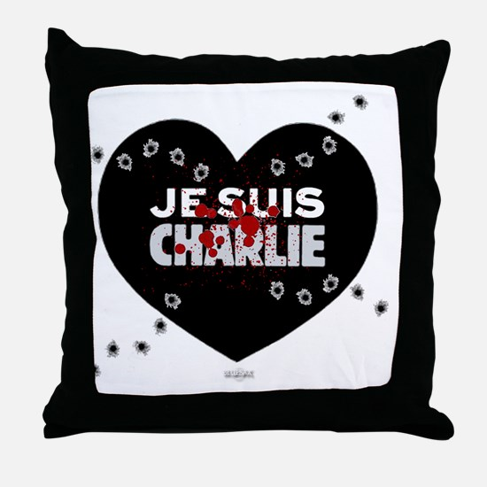 Je suis Charlie by Bluesax Throw Pillow
